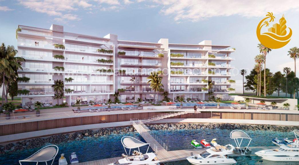 Beach Club residences on a private island development near Panama City, Panama